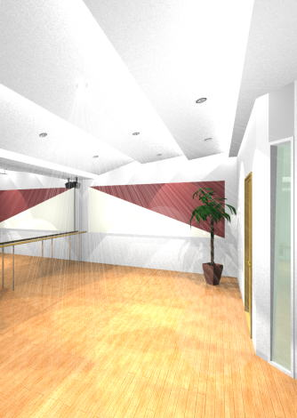 ダンスタジオ音響設備1